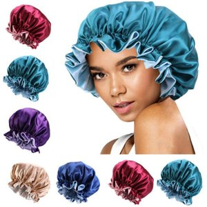 New Silk Night Cap Hat Double side wear Women Head Cover Sleep Cap Satin Bonnet for Beautiful Hair - Wake Up Perfect Daily Factory Sale a26