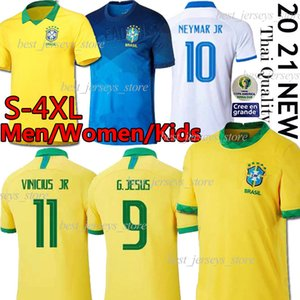 Thai Brasile jersey di calcio NERES G. Gesù 20 21 COUTINHO VINICIUS jersey camicia di calcio MARCELO uomini de futebol copa America uniformi