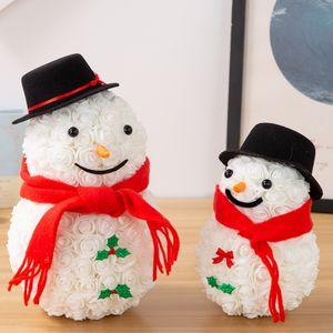 Hot-selling rose Christmas snowman imitation flower soap flower creative immortal flower lotso box of birthday presents