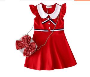 Ropa exterior para niños de Europa y América del comercio exterior 2-8 años de edad, niña encantadora vestido niña volando manga chaleco falda