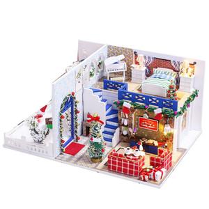 Doll House Dollhouse miniatura con mobili in kit Casa in legno Miniaturas giocattoli per i bambini regalo di Natale Capodanno