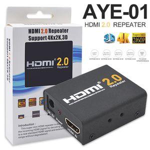 AYE-01 30M HDMI Extender HDMI 2.0 Splitter Repeater Unterstützung 3D 4K 2160P HD Multimedia-Geräte mit Kleinkasten