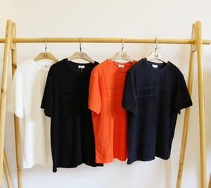 Prendas de punto Toalla Material de alta calidad 2020 nueva marca de lujo diseñador remata la camiseta de las mujeres de punto camisetas