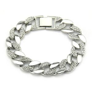 Mens Bracelet Women Charm Bracelet European And American Hip Hop Gold Men's Full Diamond Bracelet With Diamond Cuban Chain