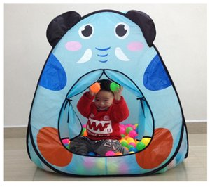 [ Funny] Indoor outdoor camping catoon animal elephant dog House tent Ocean ball pool baby park picnic holiday game play tent