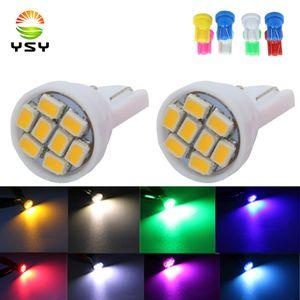 YSY 100PCS 슈퍼 밝은 LED T10 8 1206 3020 Smd을 LED가 8SMD 8LED 자동차 주도 194 168 192 W5W 자동차 자동차 조명 웨지 램프 빛 BluB 효소