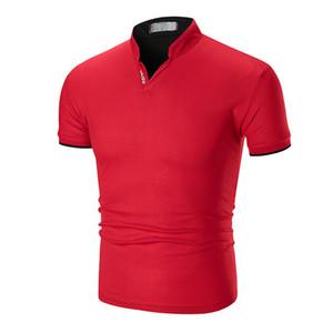 T-shirt Atacado OEM em branco personalizado Impressão Logo Design 100% algodão Plain Mens Golf Polo camisetas