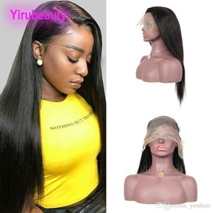 Brazilian Virgin Hair 13X6 Lace Front Wigs Straight 100% Human Hair 13 By 6 Lace Frontal Wig Natural Color Yirubeauty