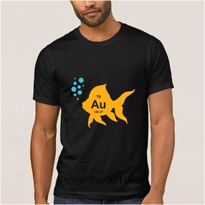 Anlarach personalized Casual periodic table elemental gold fish t shirt for mens summer Graphic t-shirt Formal tshirt mens