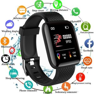 New Fitness Tracker ID116 Plus Braccialetto intelligente con wristband Smart Watchband cardiaco PK ID115 Plus 116 Plus per Fitbit