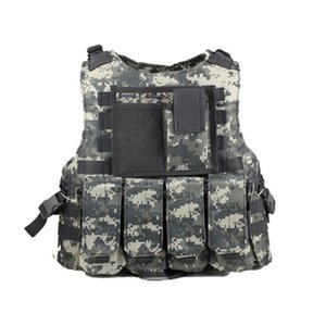 New camouflage army fans tactical battle vest men amphibious combat camo sleeveless jacket protection waistcoat
