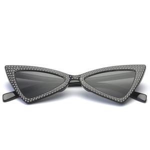 Top Diamond Triangle Sonnenbrillen Fashion Kitten Eye Sonnenbrillen Brand Designer Herren und Damen Diamond Triangle Sonnenbrillen Versandkostenfrei