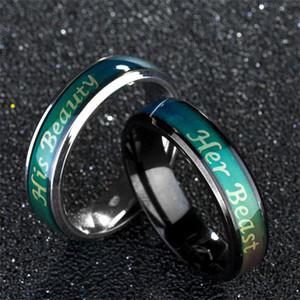 Fine Jewelry Mood Ring Температура Изменение цвет Feeling коронные кольца HER KING ферзь кольцо пара ювелирные изделия женщины кольцо челнок