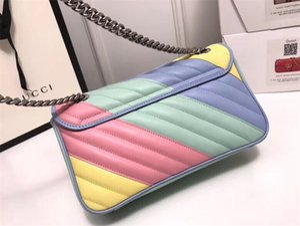 Macaron Marmont Small Chevron Velvet Shoulder Bag women luxury chain crossbody bag handbags famous designer purse female