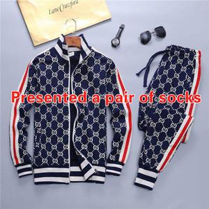 Designer Sportswear Jacket Set Fashion Running Sportswear Medusa Mens Sportswear Lettering Print Slim Hooded Shirt Tracksuit a686
