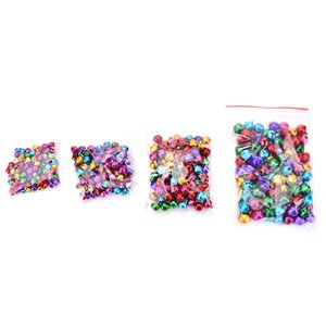 100Pcs 6mm 8mm 10mm 12mm Jingle Bells Iron Loose Beads Small For Festival Party Decoration Christmas Tree Decorations
