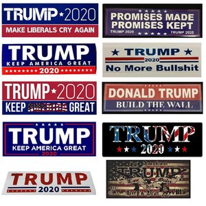 New 10 Styles Donald Trump 2020 Car Stickers Bumper wall Sticker Keep Make America Great Decal for Car Styling Vehicle Paster Free Ship