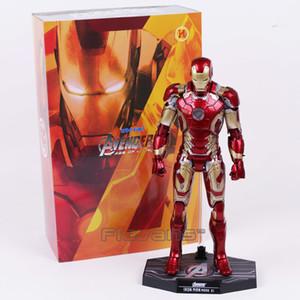 Hot Toys Vengadores Iron Man Marca MK 43 con la figura de acción de luz LED de PVC modelo de juguete de colección T200106