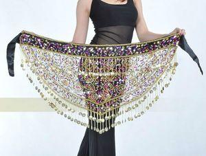 Hot Selling Women Triangle Tribal Belly Dance Waik Tassel Sequins Belt Solutions 89