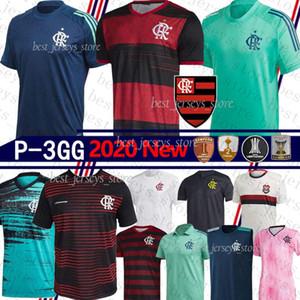 2020 Camisa Flamengo RJ Jogo 1 Feminina GABRIEL B. GUERRERO DIEGO HENRIQUE De Arrascaeta 70. Trikots 19 20 flamengo uniformen 4GG