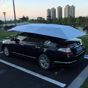 Elektrikli Araba Şemsiye Otomatik Güneşlikli Uzaktan Kumanda 4.2 * 2.2M Araba Çatı Çadır Oto Shield Güneşlik Protector GGA2190