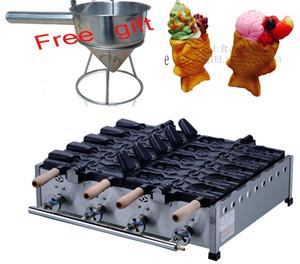 무료 배송 LPG 10 기압 타입 PCS 아이스크림 생선 와플 메이커 타이 야키 머신