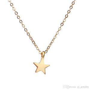 Dogeared Raising Star Best wishes Lucky Tiny Charm Necklace For Girls Silver Gold Plated Clavicle ChainsNecklace Women Jewelry With Card