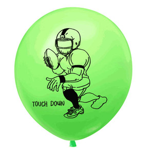 12 pouces Rugby Football Ballons Décorations Latex Rugby imprimé Ballons Sports Party Fournitures de Club Accessoires Sport Birthday Party