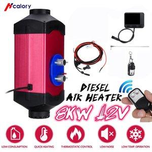 HCalory Fahrzeugheizung 1-8KW einstellbar 12V Luftdieselheizung 2 Luftauslaß LCD Display + Fernbedienung für Auto RV Bootsanhänger