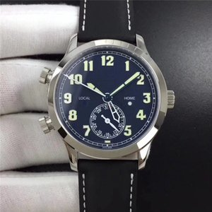 GR montre DE luxe calfskin watchband 324SC automatic mechanical movement watches Pilot's wristwatch designer watches waterproof