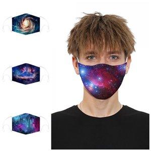 M-Form-Nasen-Klipp-Gesicht Mascherine 2 Filter Digital Print Anti Splash Und Splatte Staub windundurchlässiger Respirator Mund 12 9md E1 Maske schützen