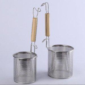 Set di 2 maglia di acciaio inossidabile Tagliatelle Strainer, pasta Skimmer, Dia 12 centimetri + 14 centimetri