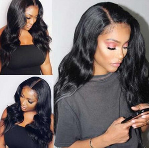 2021 fashion Human Hair Wigs Density Remy Invisible HD Transparent Brazilian Body Wave Lace Front Wig For Black Women
