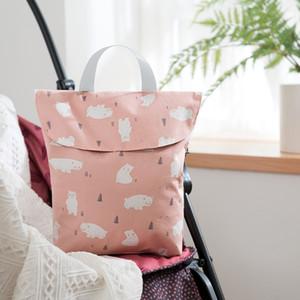 Детские Пеленки сумки Материнство сумка водонепроницаемый Влажная ткань Пеленки сумки многоразового Пеленки Обложка Сухой Влажный сумка для мамы подгузник хранения сумки ZZA1895