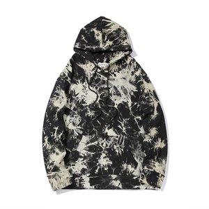 2020 Autumn Pullover Hoodies Cotton Hipster Clothing HipHop Mens Harajuku Streetwear Hip Hop Illusion Graffiti Hoodie Sweatshirt