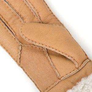 Fashion- Ladies Fashion Повседневные кожаные перчатки Термальные перчатки Женские шерстяные перчатки