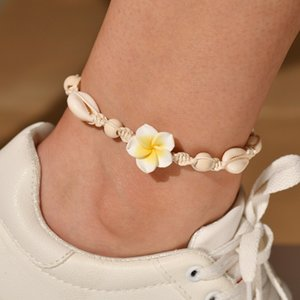 Anklet Sandy Beach Anklet Pure Manual Weave Soft Tao Huaduo Seashell Shell Anklet Foot Ornaments