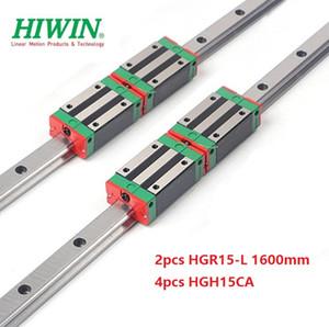 2pcs Nuovo originale HIWIN HGR15 - 1.600 millimetri lineare guida / guida + 4pcs HGH15CA lineare blocchi strette per cnc router parti