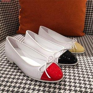 Printemps et en été Classic Leather Flats, Double couture de chaussures en cuir véritable style quotidien