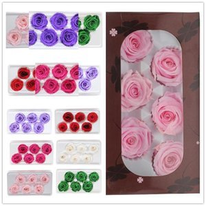 5cm Preserved Dried Flowers for Jewellery Eternal Life Flower Material Christmas Valentine'Day Gift Box Immortal Rose Flower