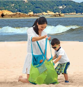 45*45cm Large Capacity Sand Away Beach Mesh Bag Pouch Kids Children Toys Shell Towl Net Organizer Tote bag portable foldable storage bags