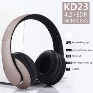 KD23 inalámbrico Bluetooth para auriculares plegable auricular del auricular para el teléfono con el ruido del auricular del micrófono con cancelación de tarjetas TF de la ayuda
