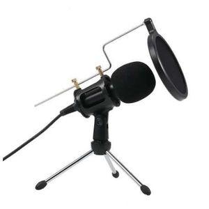 3.5mm Microphone à condensateur Mic Lecture Home Studio Podcast Vocal Microphones Enregistrement pour iPhone Tablet PC portable Microphone