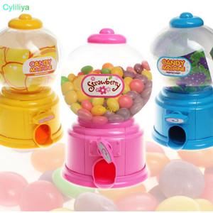 Plástico Mini Pequeña Máquina de Caramelos Bubble Gumball Dispensador Moneda Banco Niños Juguete Para Gumballs Cacahuetes Pequeños Dulces Y Bocadillos