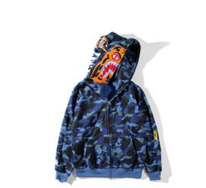 남성과 여성 상어 입 여가 운동복 브랜드 스포츠웨어 남성용 의류 얇은 스웨터 후드 커플 티셔츠