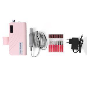 30000RPM prego broca Máquina recarregável elétrico portátil E arquivo acrílicas Gel Bits Prego suprimentos e ferramentas jogo de manicure