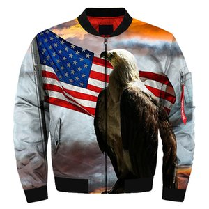 Мужская куртка-бомбер с надписью Dusk American Flag, дропшиппинг и оптовая продажа
