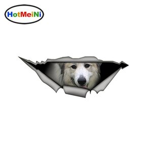 Großhandel Große Pyrenäen Autoaufkleber Funny Pet Dog Vinyl Laptop Aufkleber Wasserdichtes 3D Car Styling Dekoration 15cm x 6cm