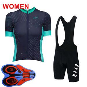 squadra MAAP su misura delle donne di estate Cycling Jersey Pantaloncini manica corta traspirante all'aperto rapido sport Jersey secco imposta S10726