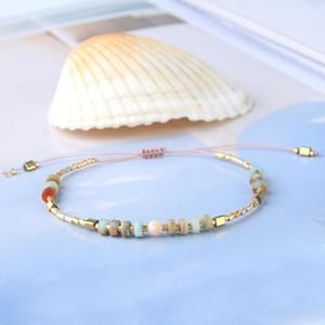 KELITCH Miyuki Seed wulstige Wickelarmbänder justierbare Kette Steinperlen Strang-Armbänder Handweb Trendy Schmuck